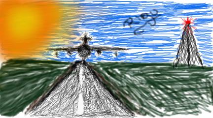 Aeroplane at airport